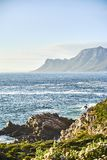 Seaside road at sunset Boland Mountain Complex, Western Cape stock images