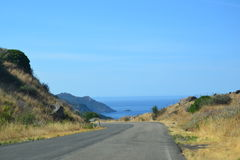 Seaside road trip Stock Images