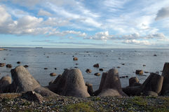 Seaside with rocks Royalty Free Stock Images
