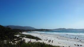 Seaside sandy beach Stock Image