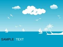 Seaside scene Stock Images