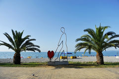 Seaside scene in Batumi Royalty Free Stock Photography