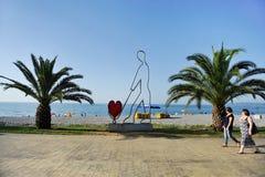 Seaside scene in Batumi Royalty Free Stock Photos