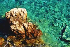 Seaside scenic in Kastellorizo island, Greece stock photography