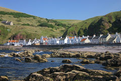 Seaside of a scottish village Royalty Free Stock Image