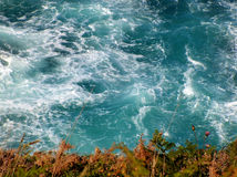 Seaside. Sea view froam a cliff royalty free stock images