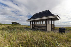 Seaside Shelter. Victorian style seaside shelter on the cliffs above Southbourne near Bournemouth in Dorset Royalty Free Stock Images