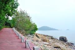 Seaside Sidewalk Royalty Free Stock Images