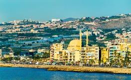 Seaside of Sidon town in Lebanon. Seaside of Sidon or Saida town in Lebanon stock photography