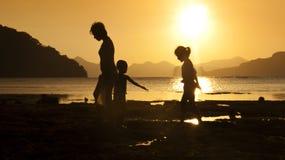Seaside silhouette Stock Photo