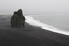 Seaside in the south of iceland. The dark seaside in the south of iceland Royalty Free Stock Image
