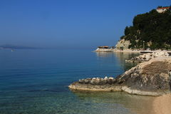 Seaside and spring morning,Adriatic sea Croatia Stock Images