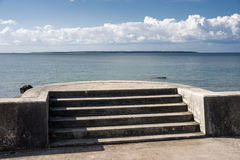 Seaside stairs Royalty Free Stock Images