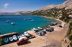 Seaside at Stara Baska in Krk Stock Photo