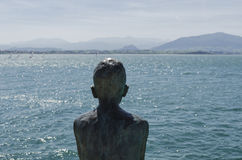 Seaside statue Royalty Free Stock Photography