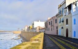Seaside street Stock Images