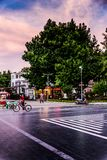 Seaside Streets Of Cinarcik Town In Summer Sunset - Turkey Royalty Free Stock Images