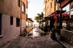 Seaside Streets Of Cinarcik Town In Summer Sunset - Turkey Royalty Free Stock Photos