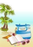 Seaside summer holiday background Royalty Free Stock Image