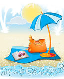 Seaside summer holiday background Royalty Free Stock Photo