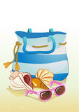 Seaside summer holiday background Stock Images