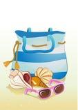 Seaside summer holiday background Stock Images