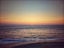 Seaside during Sun Set Royalty Free Stock Image