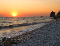 Seaside sunset Royalty Free Stock Images
