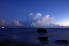 Seaside after sunset Stock Photography