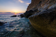 Seaside sunset stock image