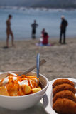 Seaside tapas Stock Image
