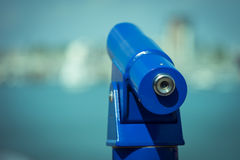 Seaside telescope Stock Image