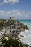 Seaside Temple at Tulum Stock Photography