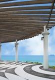 Seaside Terrace Royalty Free Stock Photo