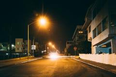 Seaside Terrace at night, in Santa Monica  Royalty Free Stock Photos