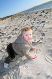 Seaside toddler Royalty Free Stock Images
