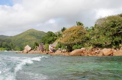 Seaside tour of the Seychelles. Seychelles, somewhere in the Indian Ocean royalty free stock photo