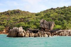 Seaside tour of the Seychelles. Seychelles, somewhere in the Indian Ocean royalty free stock image