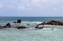 Seaside tour of the Seychelles. Seychelles, somewhere in the Indian Ocean stock photography