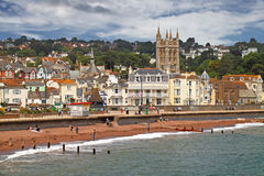 Seaside Town. The seaside town of Teignmouth is in South Devon, England Stock Image