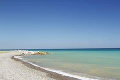 Seaside town. Beach in the seaside town , Turkey royalty free stock photo