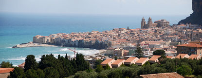 The seaside town  of Cefalu Royalty Free Stock Images