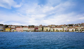 Seaside town. Town close to the Adriatic sea Stock Image