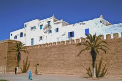 Middle Eastern Fortress, Essaouira, Morocco Royalty Free Stock Photos
