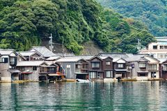 Seaside town of Ine cho Stock Photography