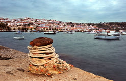The seaside town of Koroni, southern Greece Stock Photo
