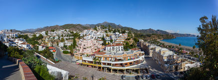 Seaside town of Nerja Stock Image