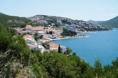 The seaside town of Neum in Bosnia and Herzegovina. NEUM, BOSNIA AND HERZEGOVINA -Neum, a seaside resort on the Adriatic Sea, is the only coastal access in Royalty Free Stock Image