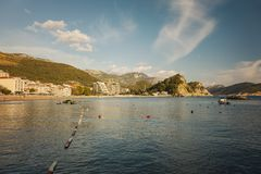 Seaside town of Petrovac Royalty Free Stock Photos