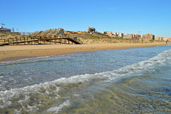 A Seaside Town In Spain - Construction Site Near Beach Royalty Free Stock Images